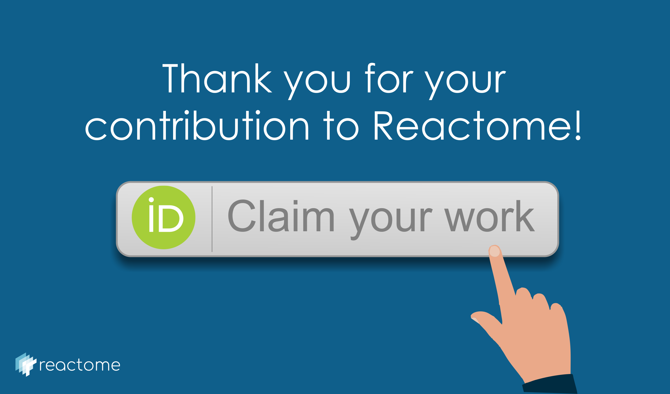 claim your reactome work into your orcid account image