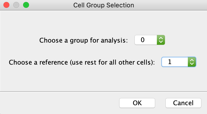 Choose Cell Groups for Differential Expression Analysis