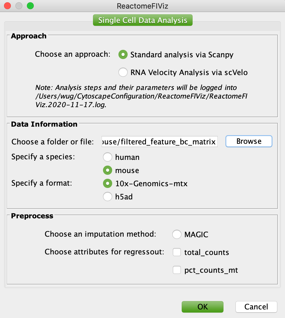 scRNA-seq Analysis Configuration